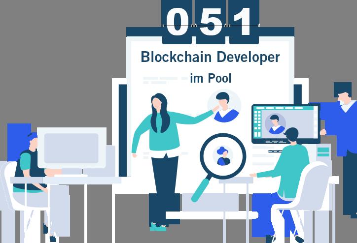 blockchain developer freelancer graphic