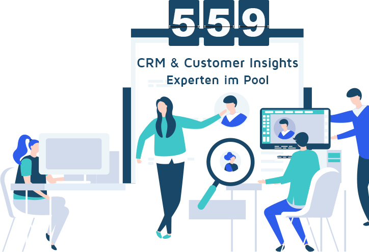crm customer insights freelancer graphic